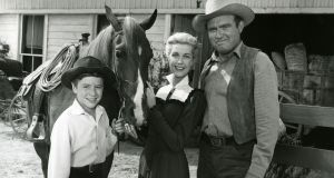 Johnny Washbrook, Anita Louise and Gene Evans in ABC's adaptation of My Friend Flicka. Photograph: ABC Photo Archives/ABC via Getty Images
