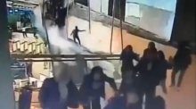 Dramatic CCTV footage emerges of floor collapse at Indonesia Stock Exchange