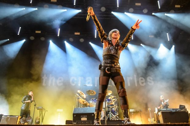 The Cranberries perform on stage in Lublin, Poland, in June 2016. Photograph: Wojciech Pacewicz/EPA