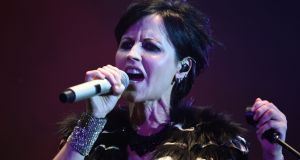 Dolores O'Riordan of performing with The Cranberries in Cognac, France, in 2016. She died on Monday at the age of  46. Photograph: Guillaume Souvant/AFP/Getty Images