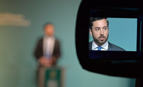 IN THE SPOTLIGHT: Minister for Housing Eoghan Murphy announcing the Housing Delivery 2017 report at Government Buildings. He said he does not know how many homes were built across the State last year. Photograph: Cyril Byrne/The Irish Times