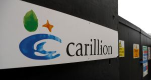 Carillion shares were suspended from trading on Monday.  Photograph: Peter Nicholls/Reuters