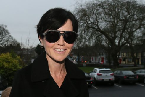 Dolores O'Riordan at Ennis District Court in December 2015. Photograph: Niall Carson/PA Wire
