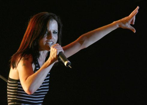 Dolores O'Riordan performs on stage during a concert in Tirana, Albania, in June 2007. Photograph: Arben Celi/Reuters