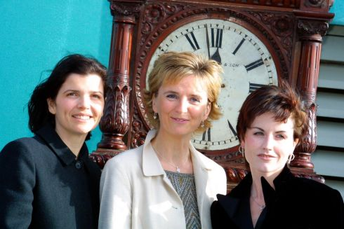 Ali Hewson, Adi Roche and Dolores O'Riordan in Dublin in 2002 to announce that the profits of the Cranberries single 'Time is Ticking Out' would go to the Chernobyl Children's Project. Photograph: Marc O'Sullivan/Collins
