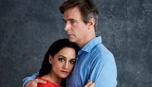 Archie Panjabi as Mona Shirani and Jack Davenport as Guy Harcourt in Next of Kin