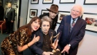 President Higgins presents Shane MacGowan with lifetime achievement award