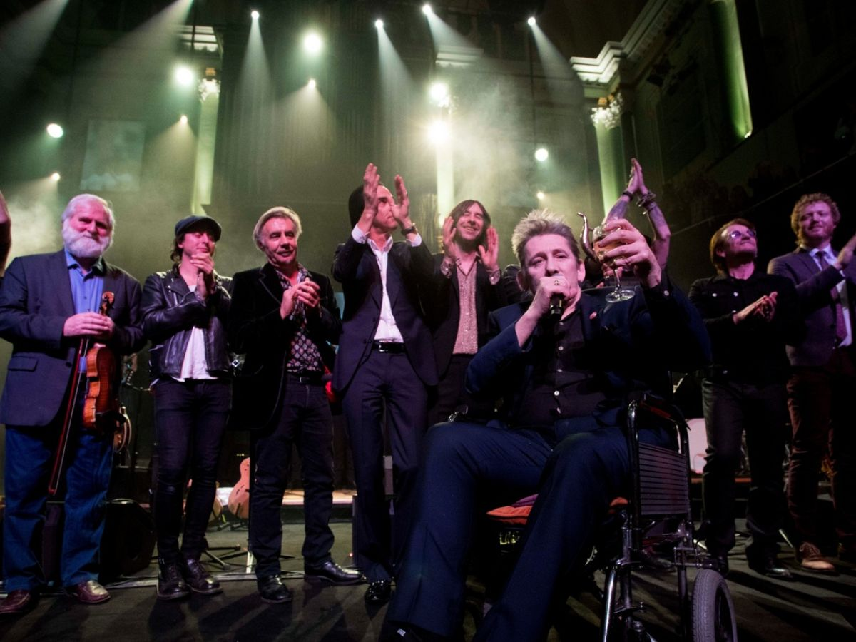 Shane MacGowan's birthday party leaves brown eyes streaming