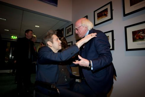 15/1/2018: Shane MacGowan was honoured with a gala concert to celebrate his 60th birthday at the National Concert Hall (NCH) in Dublin. He was also presented with the NCH's lifetime achievement award by President Michael D. Higgins. Photograph: Tom Honan