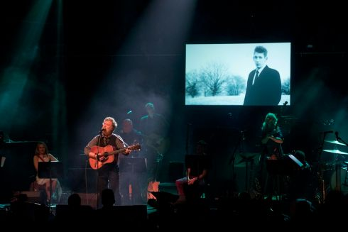 Glen Hansard and Lisa O'Neill gave their version of Fairytale of New York. Photograph: Tom Honan