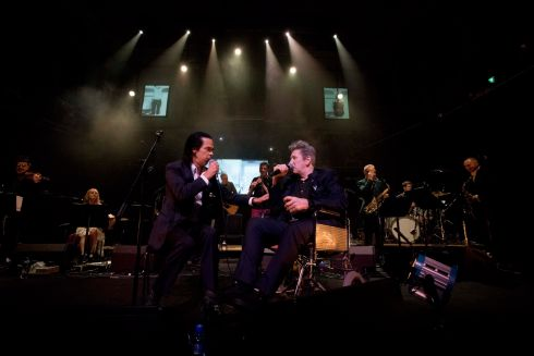 Nick Cave joined Shane MacGowan for Summer in Siam. Photograph: Tom Honan