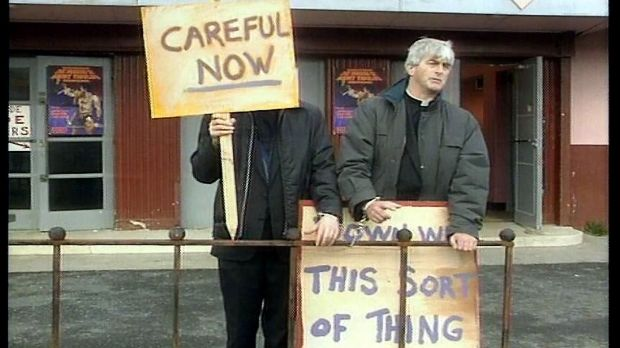 Father Ted remains very much in the bloodstream of Irish culture. Slogans from 20 years ago still appear today.