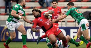 "Mathieu Bastareaud was caught calling an opponent a ""f***ing faggot"" during Toulon's win over Treviso."