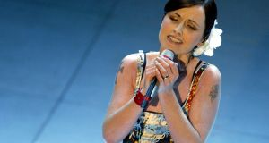 Dolores O'Riordan performing at a song festival in San Remo in northern Italy in 2004. File photograph: Reuters