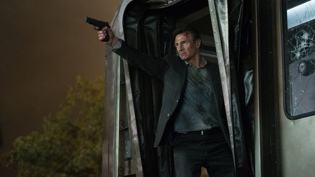 Liam Neeson thumps a whole train in The Commuter. Photograph: Jay Maidment/Lionsgate