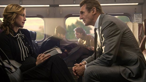 Liam Neeson stars with Vera Farmiga in the agreeably mad The Commuter