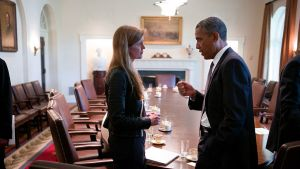 Barack Obama and Samantha Power in 'The Final Year'