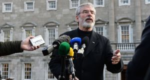 Sinn Féin leader Gerry Adams pictured at Leinster House in 2015. Photograph: Eric Luke.