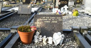 The grave of the infant boy, known as  'Baby John' in the Holy Cross cemetery in  Caherciveen Co Kerry. Photograph: Domnick Walsh