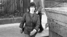 Kerry babies: Joanne Hayes at the inquiry in 1985; she did not give birth to twins and did not murder the Cahirciveen baby. Photograph: Tom Lawlor