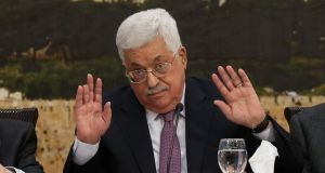 Palestinian president Mahmoud Abbas: has called for a review of all agreements reached by the PLO and Israel. Photograph: Alaa Badarneh