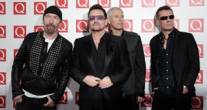 "The Edge, Bono, Adam Clayton and Larry Mullen Jr of U2: ""She had such strength of conviction yet she could speak to the fragility in all of us,"" said the band. File photograph: Yui Mok/PA Wire"
