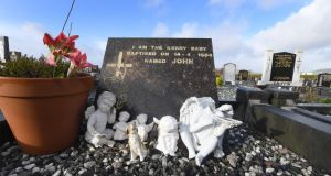 "GARDA APOLOGY The Kerry baby grave at Holy Cross cemetery in Cahirciveen. The Garda today apologised to Joanne Hayes for the stress caused by its flawed investigation into the death of ""Baby John"", whose body was found with multiple injuries on White Strand beach on April 14th, 1984. It also appealed for anyone living in the area at the time who has information to get in touch. Photograph: Domnick Walsh"