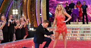 "'Strictly Come Dancing' contestants Brian Conley and Gemma Atkinson  in London last year. Ms Atkinson endured sniping from some fans of the show about being supposedly ""too masculine"" for dancing. Photograph: Gareth Cattermole/Getty Images"