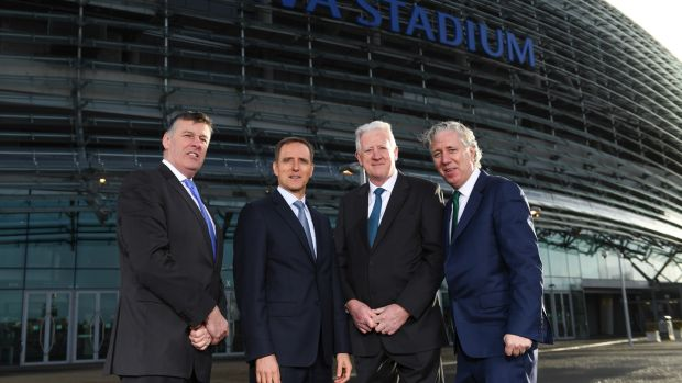 Philip Browne was speaking at the announcement of the extension of its naming rights of the Aviva Stadium.
