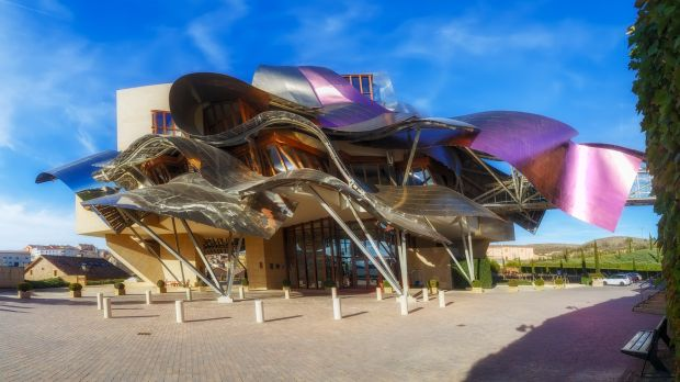 Luxury Hotel in Marques de Riscal winery designed by Frank Gehry