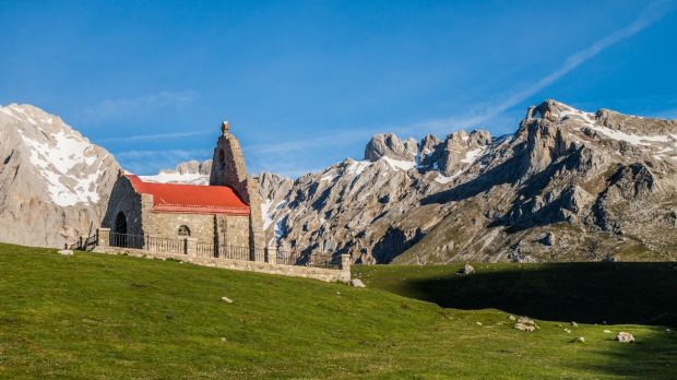 Hermitage in Picos de Europa mountains, Asturias