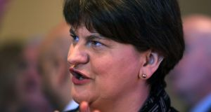 DUP leader Arlene Foster: her  tone matters because nationalists have taken an allergic dislike to her. That may be unfair but it is a fact, on which the future of devolution depends. Photograph: PA
