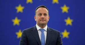 "In a speech in Strasbourg, Taoiseach Leo Varadkar  said the EU was ""the outcome of one of the greatest acts of political creativity in all of human history"". Photograph: Vincent Kessler/Reuters."