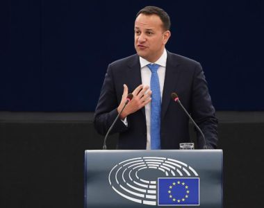 Taoiseach Leo Varadkar's wide-ranging speech to the European Parliament in Strasbourg took in issues such a Brexit, climate change, European unity, tax issues and migration. Photograph: Frederick Florin/AFP/Getty Images