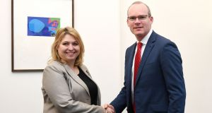 Minister for Foreign Affairs  Simon Coveney  with Northern Secretary Karen Bradley. The two governments  are expected to jointly announce  new multiparty talks aimed at getting Stormont going. Photograph: PA