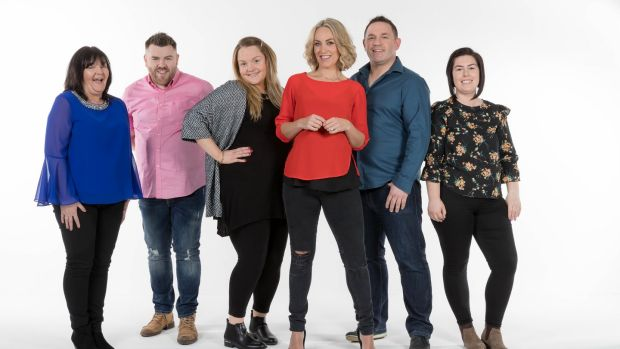 Operation Transformation: David Cryan (second right) with host Kathryn Thomas (third right) and (from left) Mary Diamnd, Wayne O'Donnell, Felicity Moroney and Sarah O'Callaghan