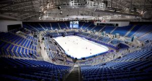 Gangneung Ice Arena, where the Winter Olympics will be held: North Korea will send 230 cheerleaders and a 30-member taekwondo team – as well as an orchestra and half a hockey team. Photograph: Kim Hong-Ji/Reuters