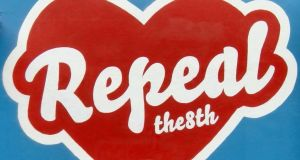 Graffiti artist Maser's Repeal the Eighth: will we need to insert text giving the Oireachtas the power to legislate for abortion provision? Photograph: Enda O'Dowd