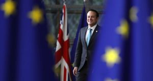 Looking for a friend: Taoiseach Leo Varadkar in Brussels. Photograph: Dan Kitwood/Getty