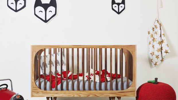 "Bunny & Clyde makes a range of contemporary furniture for kids' bedrooms, like this 3 in 1 Cot Bed ""Harrison Cot"""