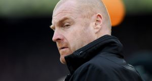 Burnley manager Sean Dyche does not munch on earthworms. Photograph:   Mike Hewitt/Getty Images