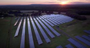 A recent KPMG report on the potential benefits of solar energy in Ireland concluded that the industry could reasonably deploy over 3,750 MW of solar from now to 2030. Photograph: PA