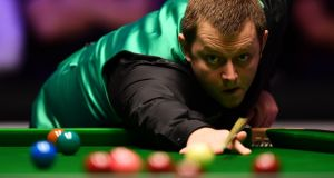 "Northern Ireland's Mark Allen  during his match against Ronnie O'Sullivan. ""I'm very, very happy, I scored really well,"" he said after beating his opponent. Photograph:  Justin Setterfield/Getty Images"
