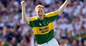 Colm Cooper celebrates scoring a goal for Kerry in the 2008 All-Ireland semi-final replay against Cork. File photograph: Donall Farmer/Inpho