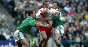 Dara Ó Cinnéide of An Ghaeltacht in action against Caltra in the 2004 All-Ireland senior club final. Ó Cinnéide is now a selector for the Kerry side . Photograph: Andrew Paton/Inpho