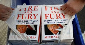 Michael Wolff's book 'Fire And Fury' is 'a phenomenal seller' for Waterstones. Photograph: Reuters