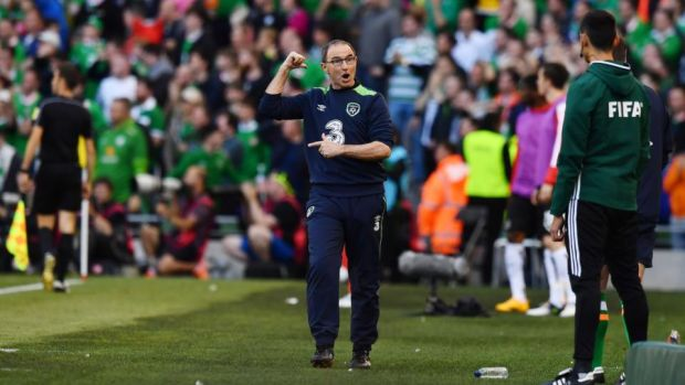 Disappointment: Martin O'Neill as Ireland's late goal against Austria is disallowed during the World Cup qualifiers in June 2017. Photograph: Charles McQuillan/Getty