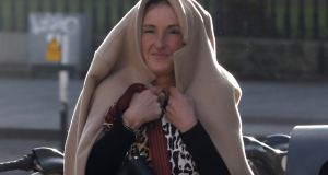 Noeleen Coakley  pictured leaving the Four Courts on Friday after being  awarded €28,000 damages at the Circuit Civil Court. Photograph: Collins Courts.