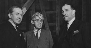 Brian Desmond Hurst, producer William Sistrom and studio head J Arthur Rank on the set of Hungry Hill, based on a book by Daphne du Maurier, at Denham Studios in June 1946. Photograph: Getty Images