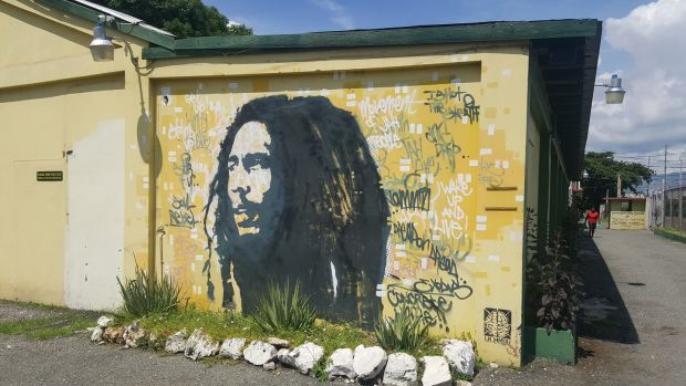 Bob Marley's face is everywhere in Jamaica. Imagine Bono's mug being used to sell everything from beer to babygros